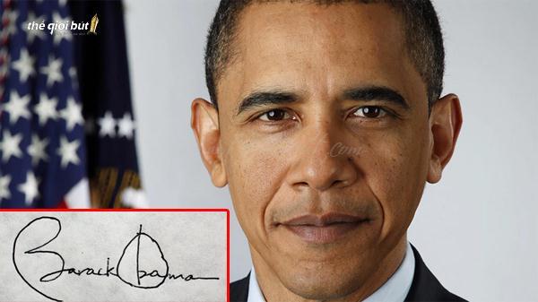 Chữ ký của cựu tổng thống Mỹ Obama