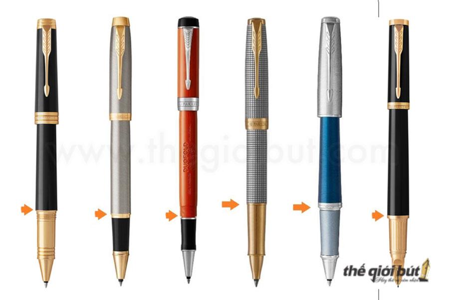 Các loại bút dạ bi Parker thường được thiết kế mở nắp khi viết