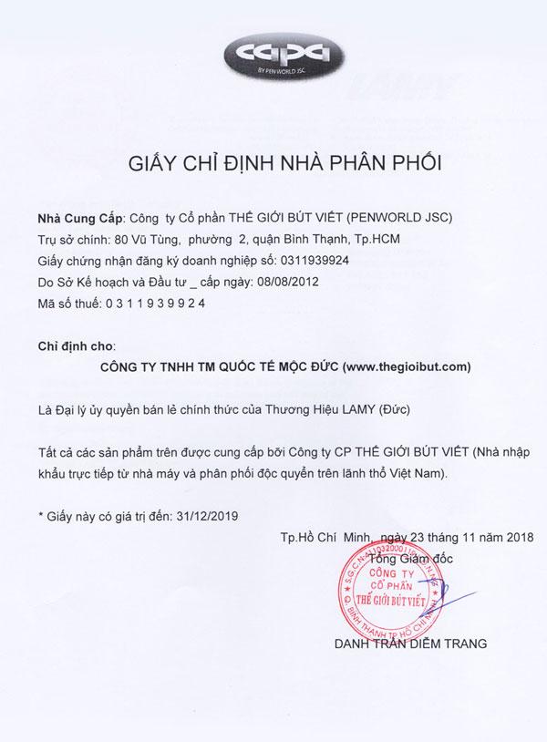 đại lý bút lamy tại Việt Nam