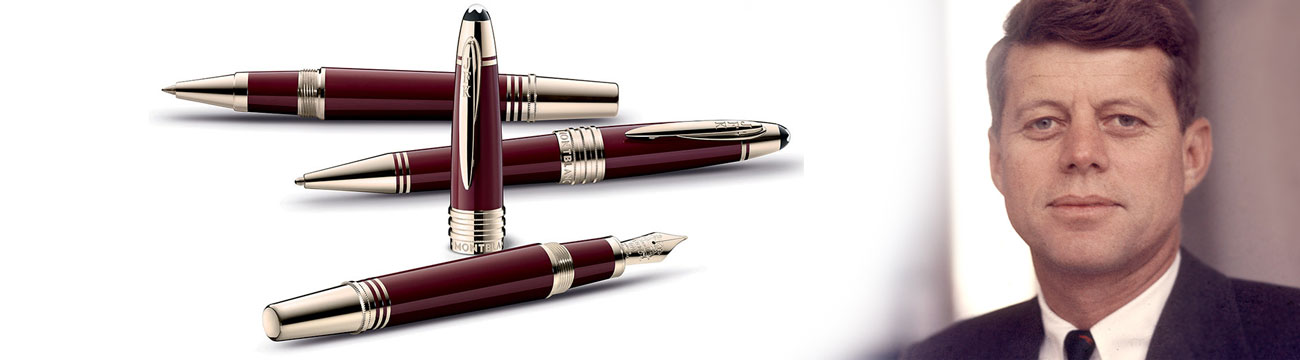 Montblanc Great Characters JFK Burgundy Fountain Pen MB118051