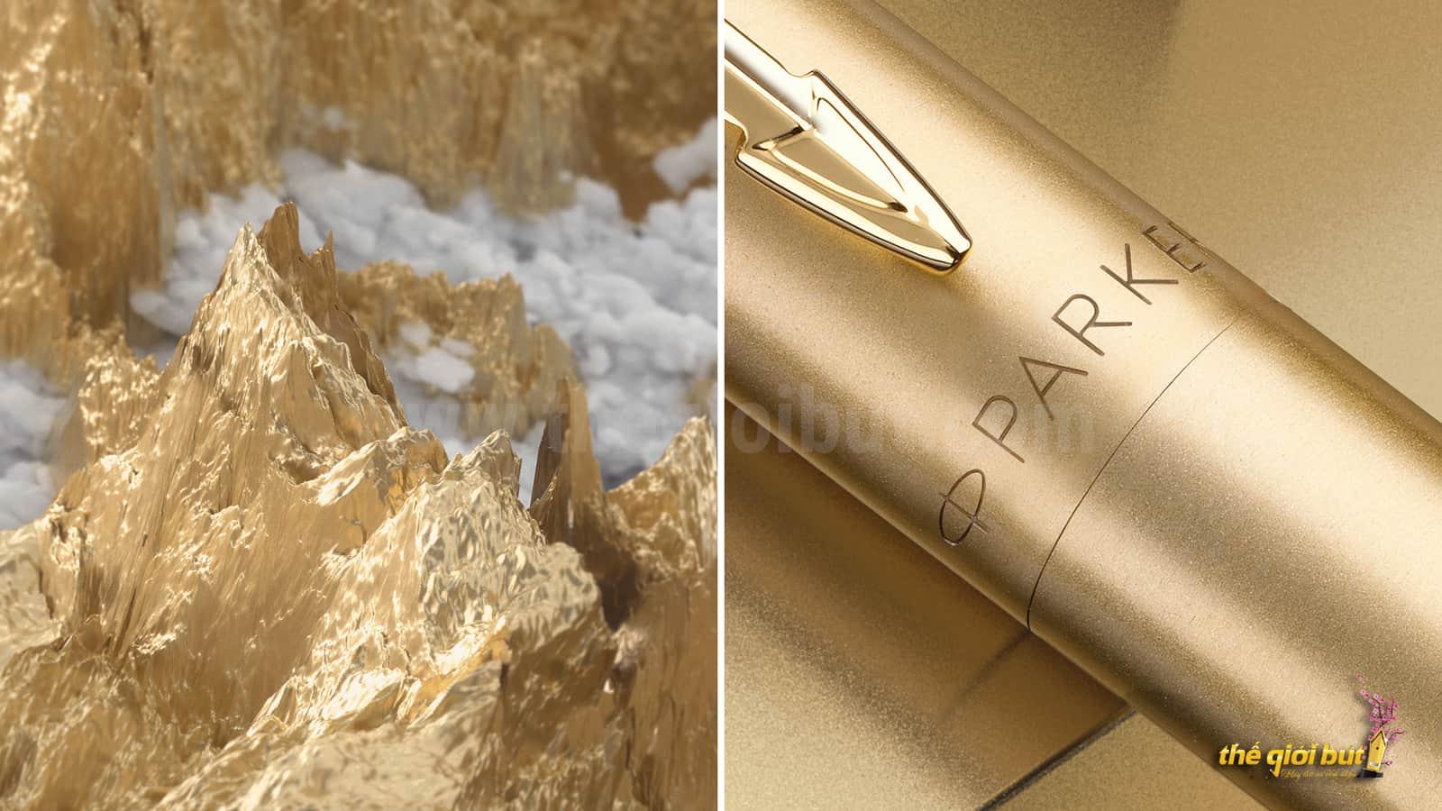Bút bi Parker Jotter XL Monochrome Gold Ballpoint Pen