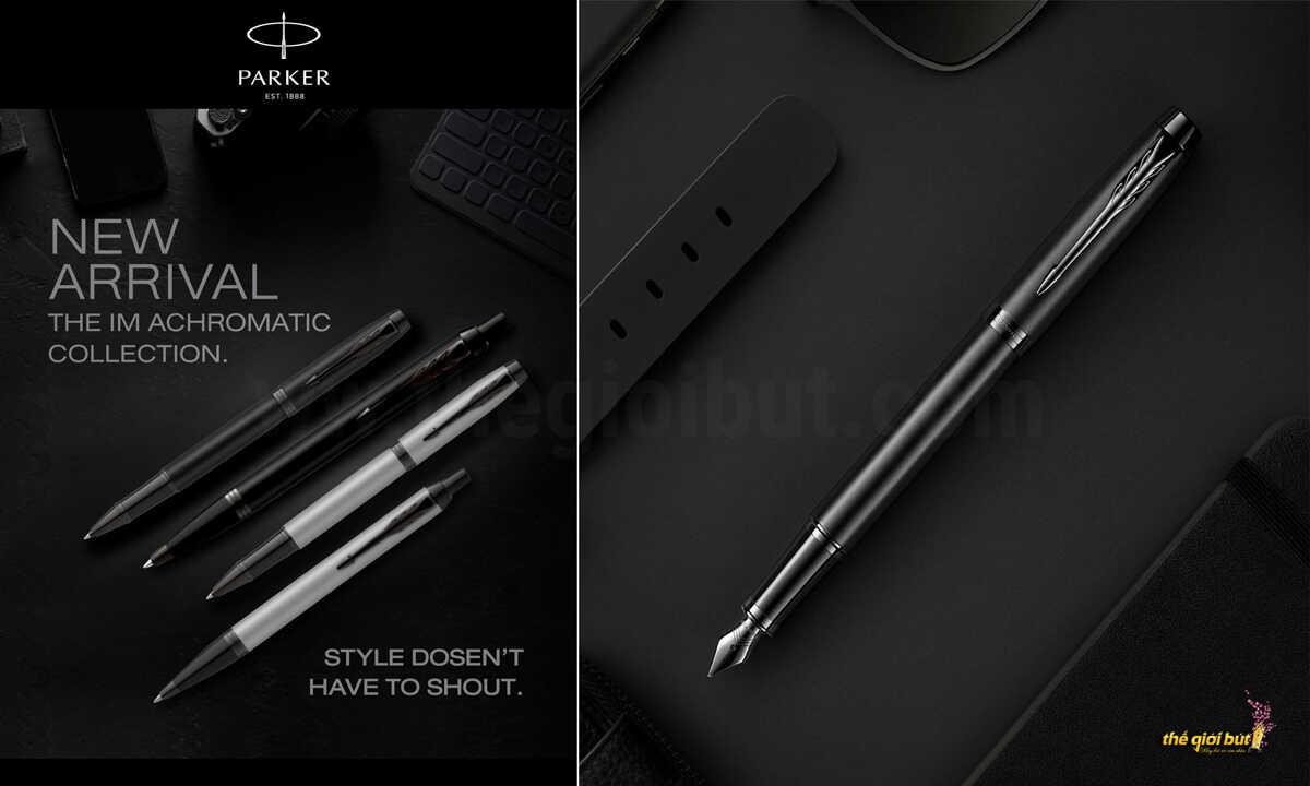 Bút máy Parker IM Achromatic Black Fountain Pen