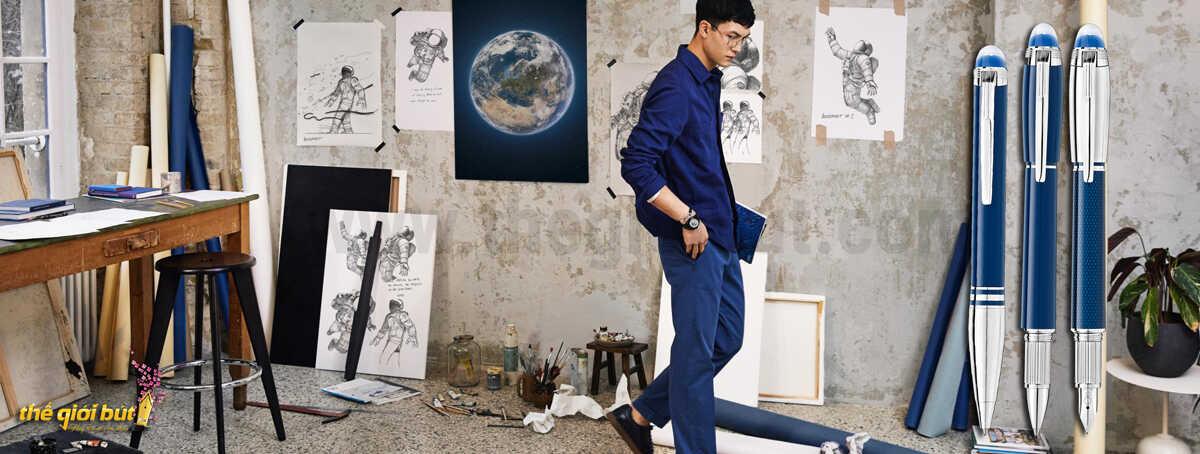 Bút bi Montblanc Starwalker Blue Planet Precious Resin Ballpoint Pen