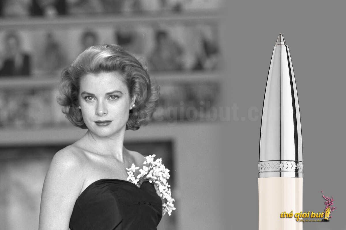 Bút bi Montblanc Moses Princesse Grace De Monaco Ivory Ballpoint Pen 111754